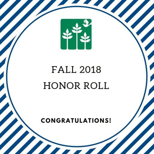 Fall 2018 - Honor Roll - PreUpper School