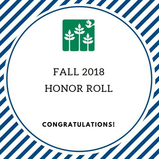 Fall 2018 - Honor Roll - Middle School
